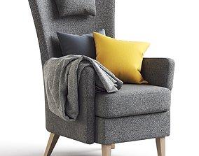 3D model IKEA Dark Gray Armchair OMTANKSAM