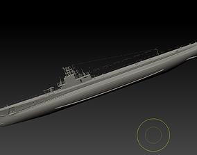 American submarine Gato 3D