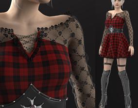 Plaid Dress 3D