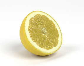 Photorealistic Lemon Half 3D Scan 4 lemon