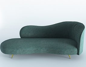 3D model game-ready Right Arm Chaise Longue