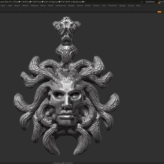 Head Pendant 3d print model 11