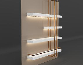 3D model Decorative Shelf cabinet
