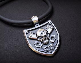 skull pendant piston 3D print model