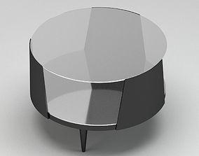 Grey Modern Glassy Coffee Table 3D model