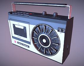 3D model National Panasonic Vintage Stereo Cassette 2