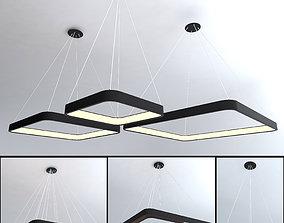 Ceiling lamps set 017 3D