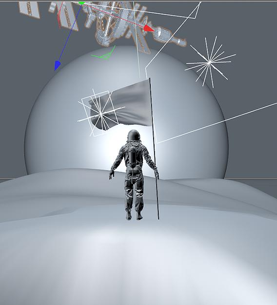 Hazza Al Mansouri Space Mission _ Concept art - Octane Renderer (Cinema 4D)