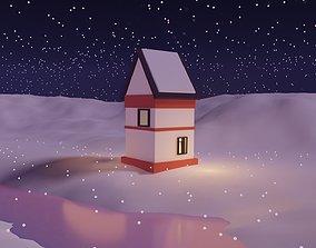 Winter Season Christmas Home 3 3D asset