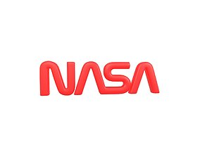 NASA 1975 Logo v2 001 3D asset