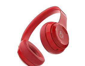 Beats Solo 2 Headphones Red 3D model