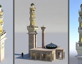 3D model game-ready Mosque Minaret piller