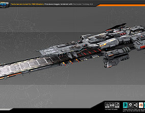 Federation Spacecraft Carrier F5 3D model