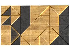 Wall Panel Wood 02 3D model