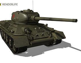 3D model T34 Soviet Tank