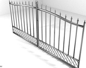 Steel Door Gate Type 2 3D