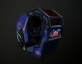 Atari Starwars 1983 Arcade Machine 3D model low-poly
