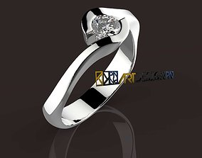 3D print model solitario diamond solitaire ring