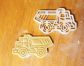 3D print model Dump truck cookie cutter
