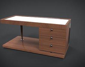 Wooden Bedside 3D asset game-ready
