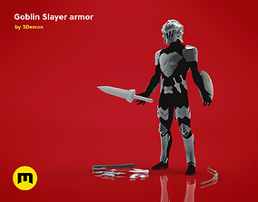 3D model Goblin Slayer Armor Weapons and Helmet