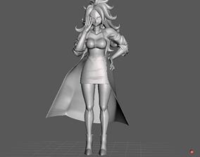 Android 21 Human Dragon Ball 3D Model