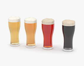 3D Beer Weizen Glass