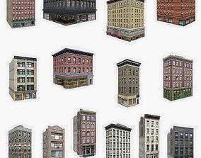 3D asset 15 Apartment Building Collection 4