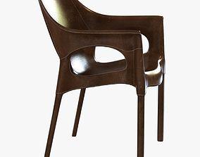 sol luna capiata leather armchair 3D model