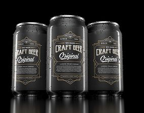 3D model realistic drink cans
