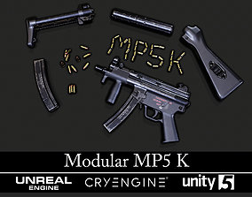 Modular MP5K - Textured - Game Ready 3D model PBR