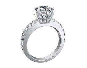 Engagement Solitaire Ring Model Separated Files- CC94-FV