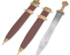 3D asset realtime Roman sword