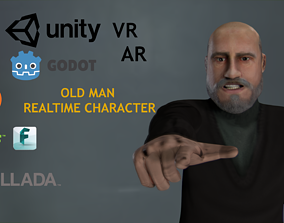 Casual Style - Old Man - Animated Low-Poly 3D model