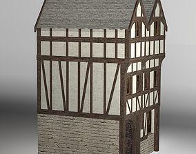 3D asset Medieval high house2