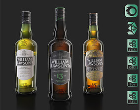 William Lawsons 13 Super Spiced whiskey bottles 3D