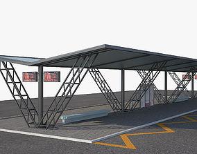 3D model Bus Stop 2a