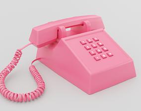 3D asset Retro Pink Phone