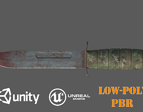 Bloody Camouflage Combat Knife 3D model