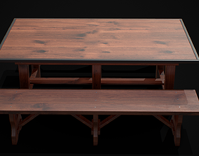 Table and Chair 3D model low-poly models