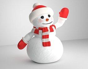 Snowman 3D asset rigged VR / AR ready
