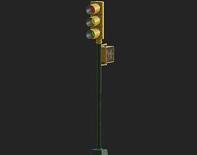 3D asset City Traffic Lamp