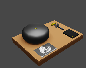 3D model time keeper bell Boxing MMA KICKboxing