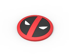 3D printable Deadpool emblem