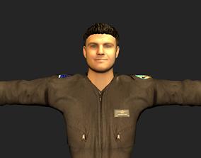 animated Pilot 3d model