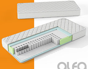 3D Mattress section with pocket spring