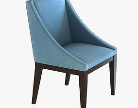 West Elm Curved Upholstered Chair 3D