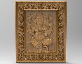 ganesh in frame 3D models for artcam and