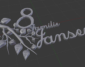 house number with a name 3D printable model