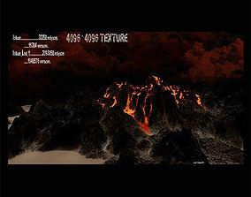 Volcano 3D asset game-ready